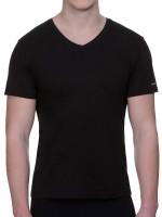 Bruno Banani Pure Cotton: V-Neck-Shirt 2er Pack, schwarz