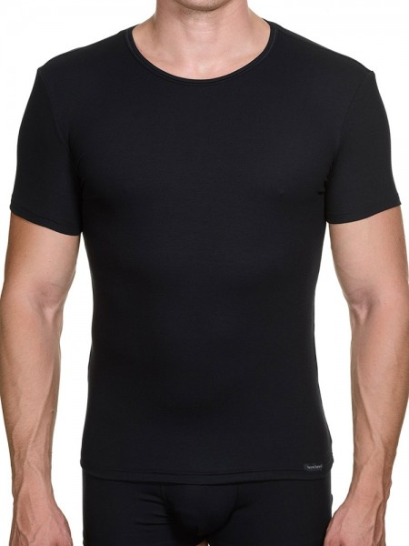 Bruno Banani Perfect Line: T-Shirt, schwarz
