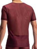 Olaf Benz RED1972: V-Neck-Shirt, port