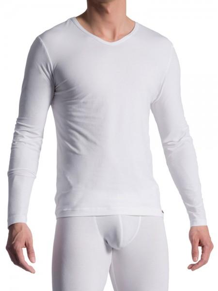 Olaf Benz RED1601: Longshirt, weiß