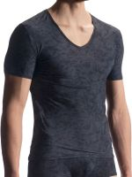 Olaf Benz RED1911: V-Neck-Shirt, schwarz