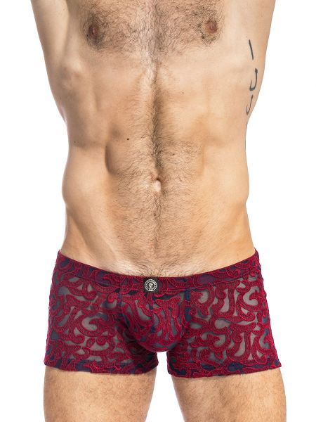 L'Homme Elio: Push-Up Shorty, marine/rot
