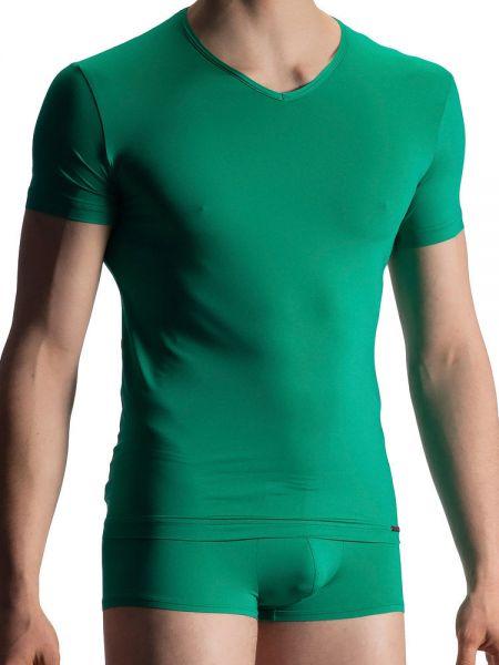 Olaf Benz RED1916: V-Neck-Shirt, emerald