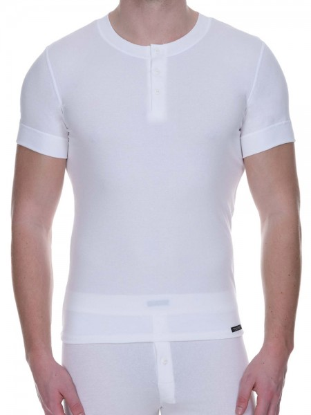 Bruno Banani Retro Perfect: Button Shirt, weiß