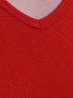 Bruno Banani Museum: V-Neck-Shirt, rot