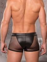 Allure: Wetlook-Netz-Boxerpant, schwarz