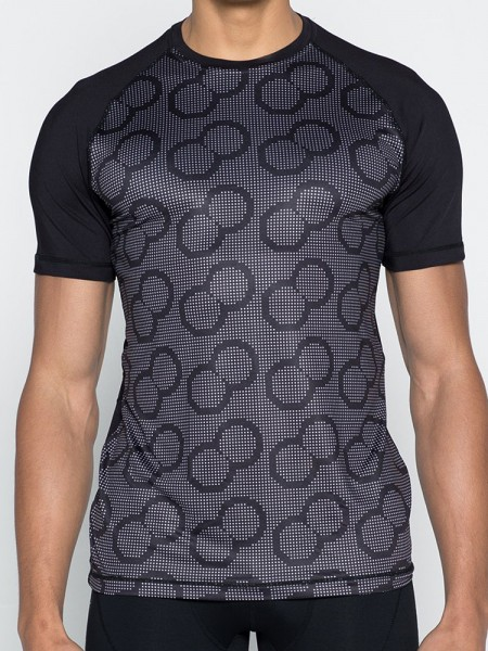 2Eros BLK Aktiv: T-Shirt, schwarz/grau