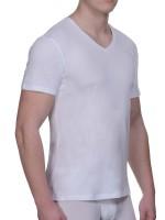 Bruno Banani Pure Cotton: V-Neck-Shirt 2er Pack, weiß