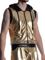 MANSTORE M2011: Zipped-Hoody, gold