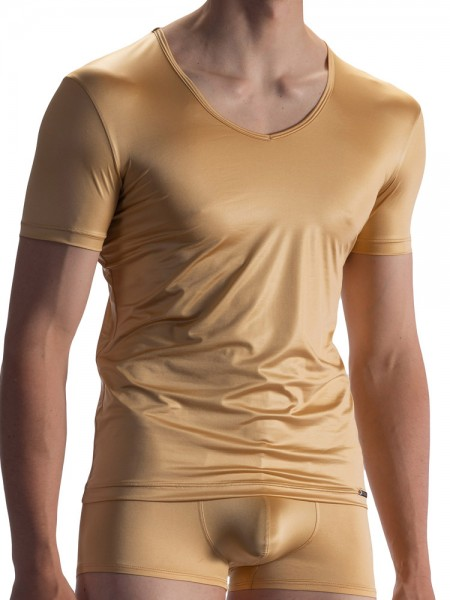 Olaf Benz RED1804: V-Neck-Shirt, gold