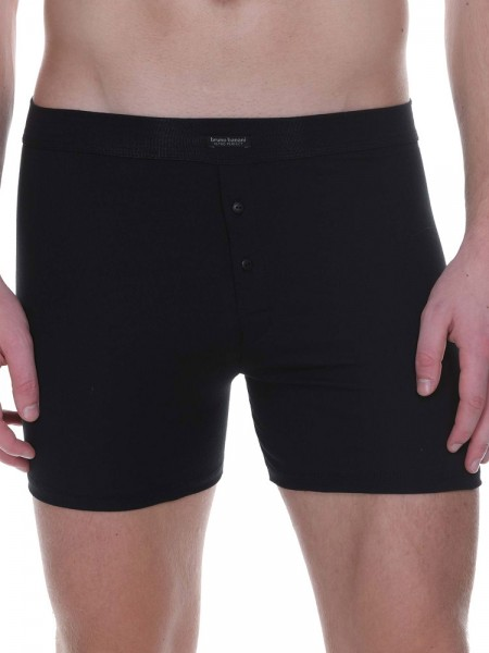 Bruno Banani Retro Perfect: Button Short, schwarz