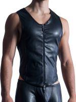 MANSTORE M854: Zipped Vest, schwarz