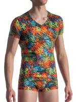 MANSTORE M801: V-Neck-Shirt, rainbow