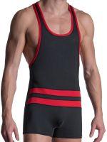 MANSTORE M2103: Wrestler Body, schwarz/rot