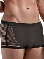 Male Power Seamless: Open Blind Short, schwarz