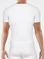 Bangert: V-Neck-Shirt, weiß