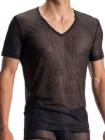 Olaf Benz RED1972: V-Neck-Shirt, schwarz