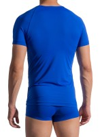 Olaf Benz RED1758: V-Neck-Shirt, blau