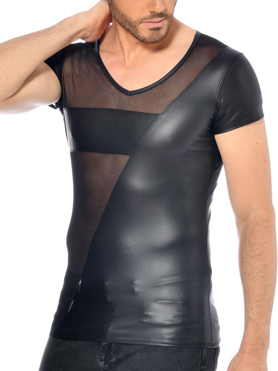 Patrice Catanzaro Jayden: Netz Hemd, schwarz