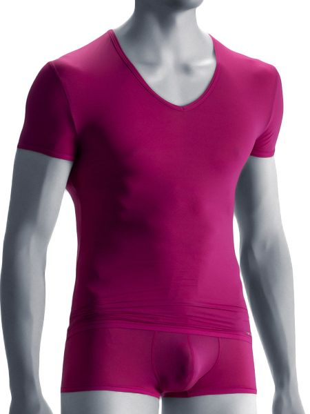 Olaf Benz RED0965: Phantom V-Neck-Shirt, berry