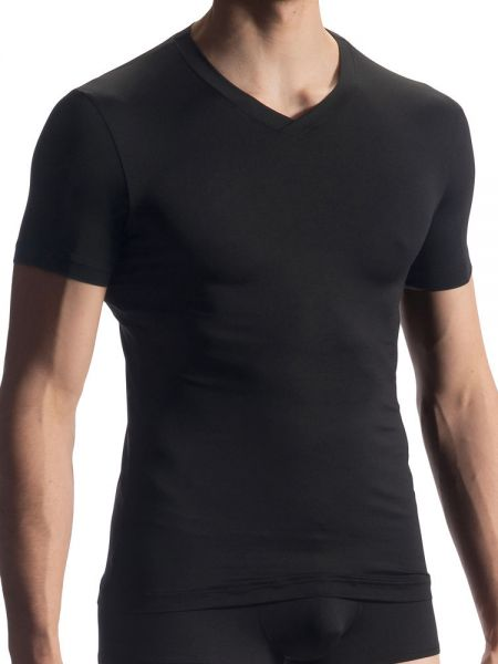Olaf Benz RED1909: V-Neck-Shirt, schwarz
