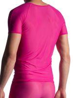 MANSTORE M904: V-Neck-Shirt, fuxia