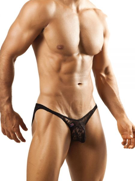 Joe Snyder Bulge04: Bikini Spitzen-Brief, schwarz
