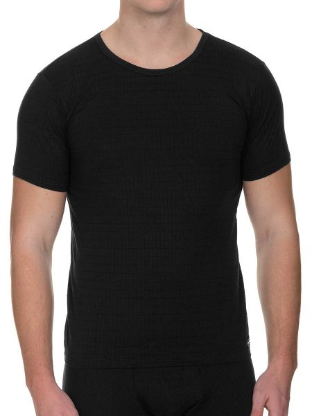 Bruno Banani Check Line 2.0: T-Shirt, schwarz