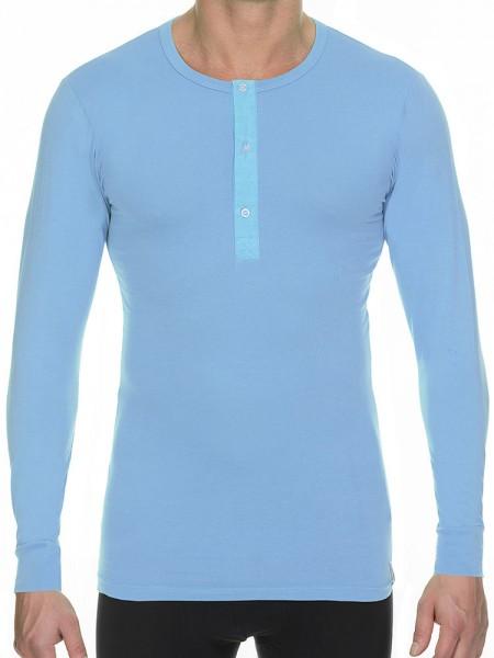 Bruno Banani Cotton Coloured: Button Long Shirt, azur