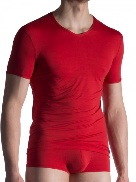 Olaf Benz RED1817: V-Neck-Shirt, rot