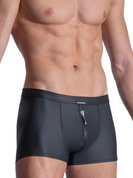 MANSTORE M2111: Zipped Boxer, schwarz