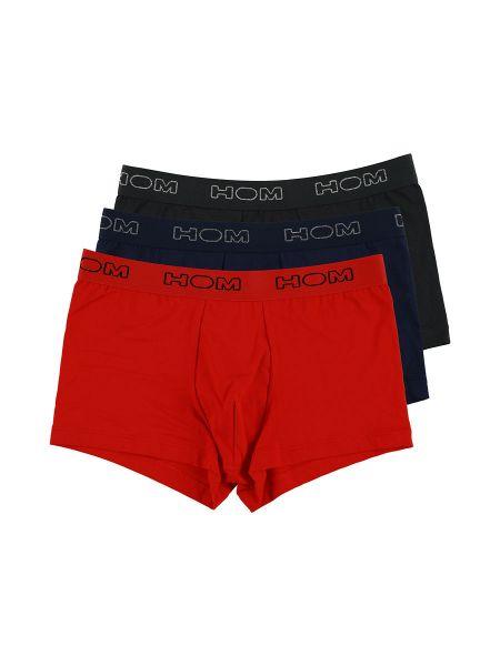 HOM Boxerlines: Boxer Pant 3er Pack, schwarz/navy/rot