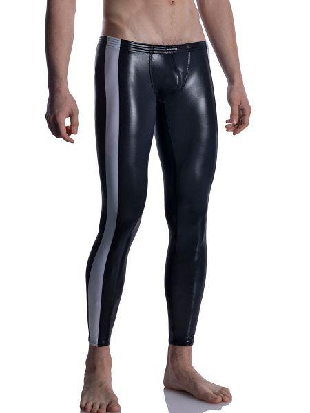 MANSTORE M2004: Bungee Leggings, schwarz/weiß