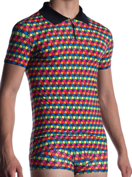 MANSTORE M2056: Polo Shirt, rainbow202