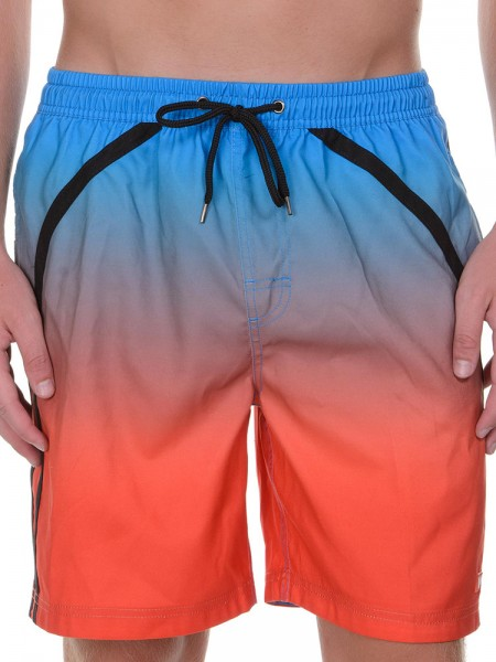 Bruno Banani Shaper: Badebermuda, blau/orange