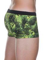 Bruno Banani Flashy Palm: Badehipshort, grün/schwarz