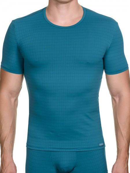 Bruno Banani Check Line: T-Shirt, petrol
