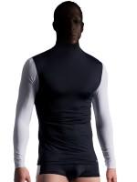 MANSTORE M713: Mask Shirt, schwarz/weiß