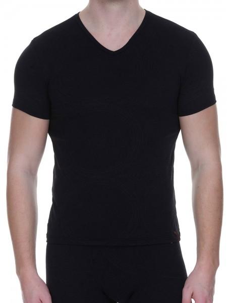 Bruno Banani Museum: V-Neck-Shirt, schwarz