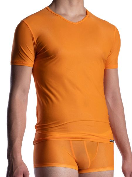 MANSTORE M2056: V-Neck-Shirt, sunset