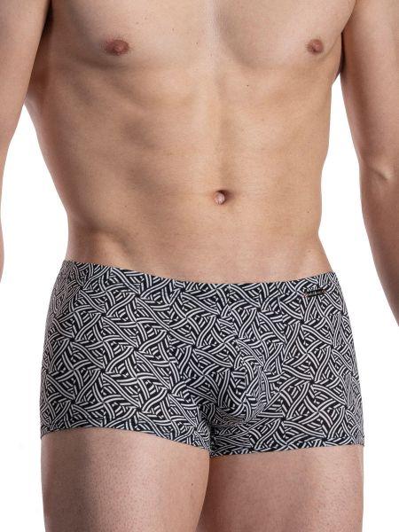 Olaf Benz RED2117: Minipant, schwarz/weiß