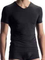 Olaf Benz RED1902: V-Neck-Shirt, schwarz