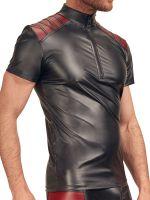 NEK Wetlook-Shirt, schwarz/rot