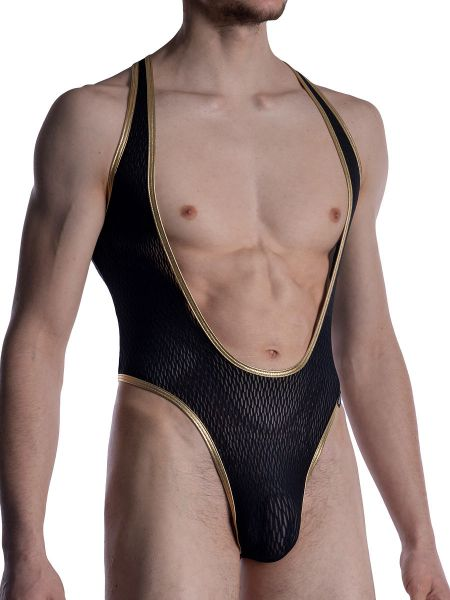 MANSTORE M2008: String Body, schwarz/gold