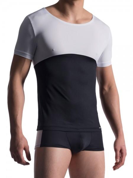 MANSTORE M713: Dance Shirt, schwarz/weiß