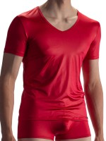 Olaf Benz RED1804: V-Neck-Shirt, rot