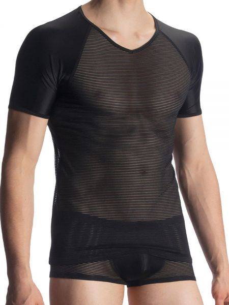 Olaf Benz RED1913: V-Neck-Shirt, schwarz