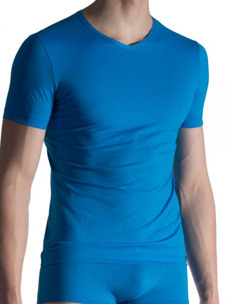 Olaf Benz RED1818: V-Neck-Shirt, blau