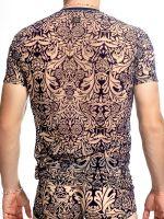 L'Homme Colby: V-Neck-Shirt, haut/navy