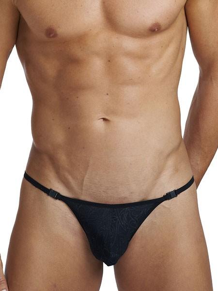 L'Homme Devoré Noir: Stripstring, schwarz